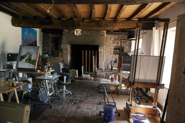 vue du nouvelle atelier de peinture à Trégonneau