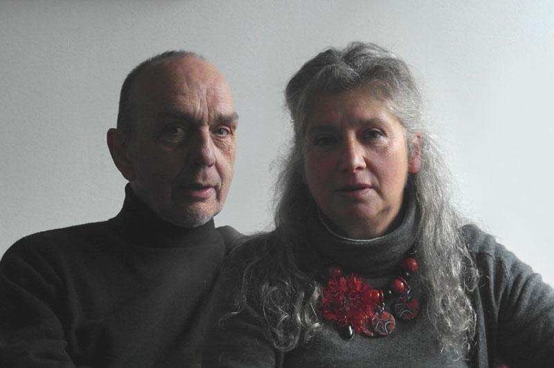 Les professeurs des cours et stages de peinture Hélène et Thierry de Penhouët prise en 2014